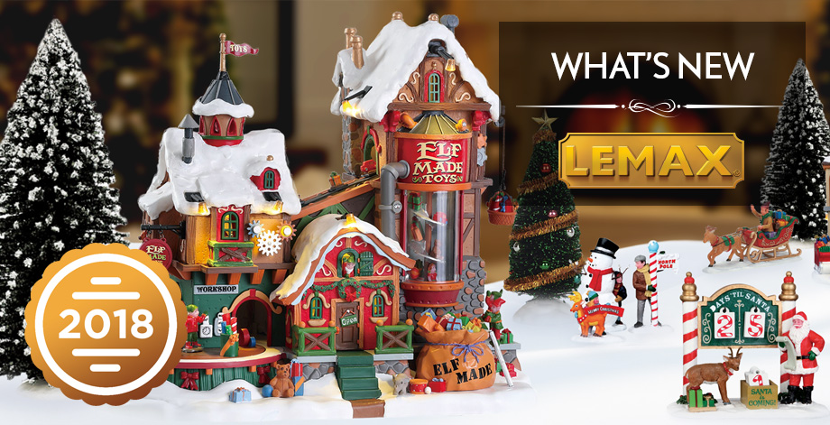 lemax 2018 holiday christmas village collection