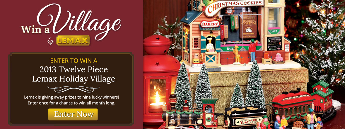 Enter to Win a Lemax Village